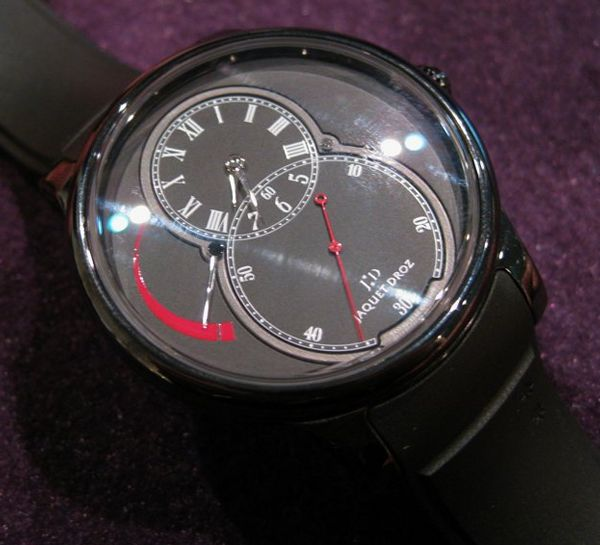 "Suave Looking <strong>Jaquet Droz Viet Nam Replica</strong> Ceramic Power Reserve Watch Watch Releases "" src=""http://www.findrmwatch.com/wp-content/uploads/2017/09/jaquet-droz-ceramic-power-reserve21.jpg"" title=""Suave Looking Jaquet Droz Ceramic Power Reserve Watch Watch Releases "" /></p> <p> After the recent design success that <strong>Offre D'emploi Jaquet Droz Replica</strong> had with its (silly named) Grande Second Sport Utility Watch, the company began to realize an emerging market for the brand that included a younger constituency. The next step it seems is a more toned down, but equally energetic watch which is the Ceramic Power Reserve.</p> <p>The case is entirely ceramic, which is of course one of the haute materials being used lately. Ceramic cases always have a sheen to them, but can vary in terms of gloss. I'd guess that this <strong>Jaquet Droz Preowned Replica</strong> is somewhere in the middle. You'll probably agree judging from the pictures. The watch comes in either black, with a matching rubber strap. You can get a similar Jaquet Droz watch in white ceramic, but that model does not have a power reserve. I'd have to say that I am reminded of Bell & Ross with their latest BRS watches. Perhaps not the design, but more the overall feeling and tone of the watches. They seem to be aimed squarely at the same market.</p> <p>		<img loading="