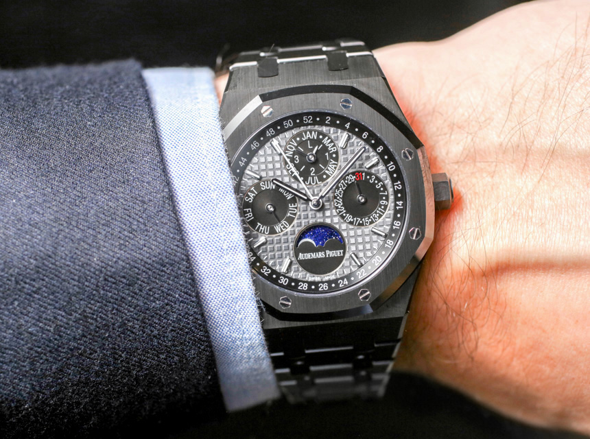 5fc8f41ff78 Audemars Piguet Royal Oak Perpetual Calendar Watch In Ceramic Hands-On  Hands-On