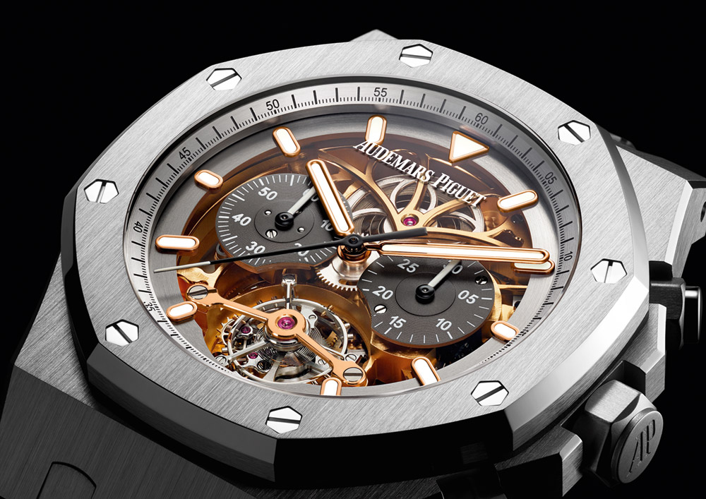 29a003a13d3 Audemars Piguet Royal Oak Tourbillon Chronograph Openworked Material Good  Watch Watch Releases