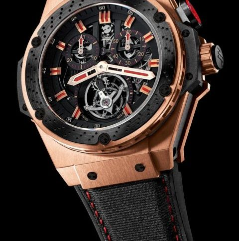 Hublot F1 King Power Tourbillon King Gold Ceramic mechanical wrist watch (Ref. 707.OM1138.NR.FM010)